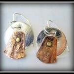 Earrings - TriMetal Sterling Copper..