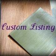 RESERVED Custom Listing for Shelle